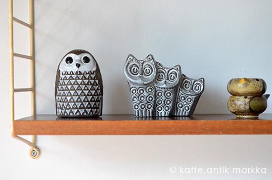 Upsala Ekeby - ふくろうの陶器オブジェ