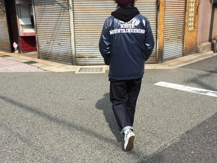 White Mountaineering/CORTED NYLON COACH JACKET