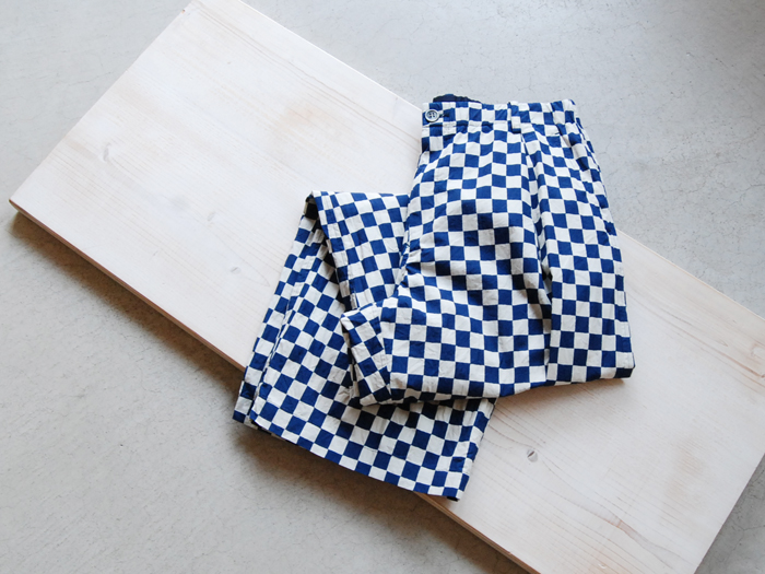 BLUE BLUE JAPAN/タイプライター トラッドチェックキッチンパンツ ウイメンズ