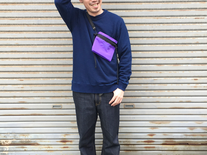 BLUE BLUE JAPAN/バンプインレー クルーネック LS