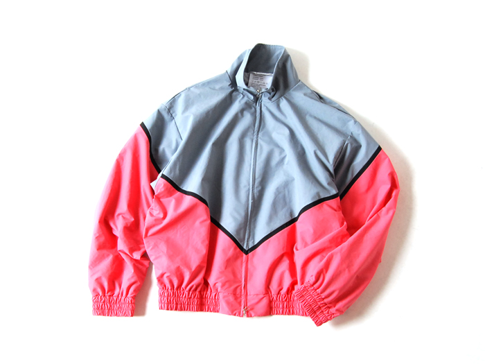DIGAWEL/MIX COLOR BLOUSON(PINK x GRAY)