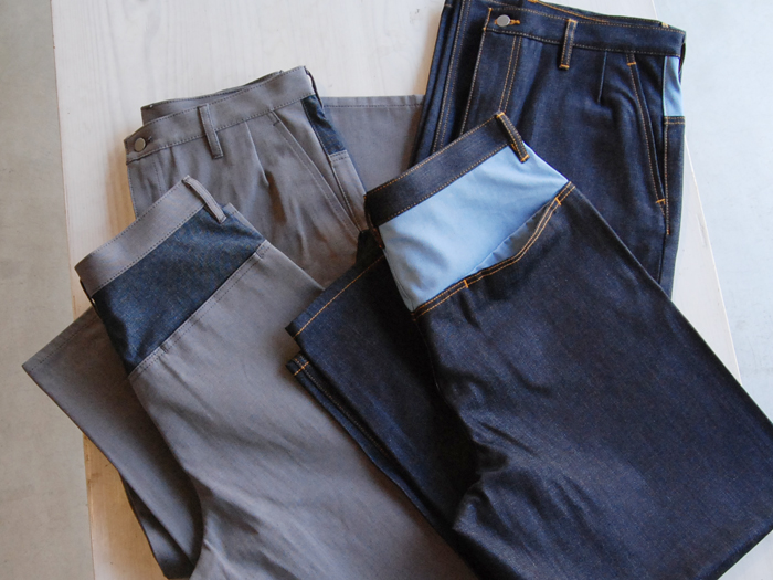 DIGAWEL/MIX COLOR DENIM