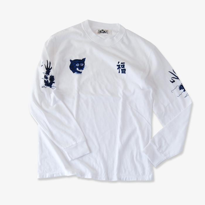 BLUE BLUE JAPAN/フク トラ リュウ Tシャツ