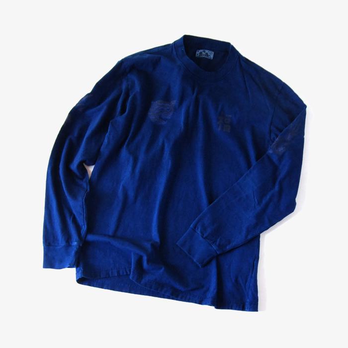BLUE BLUE JAPAN/フク トラ リュウ インディゴTシャツ