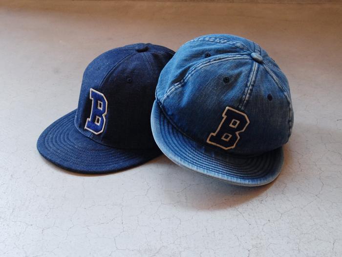 BLUE BLUE/ライトデニム Bワッペンベースボールキャップ