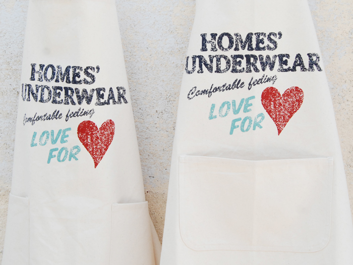 HOMES UNDERWEAR/HOMES LOVE FOR エプロン