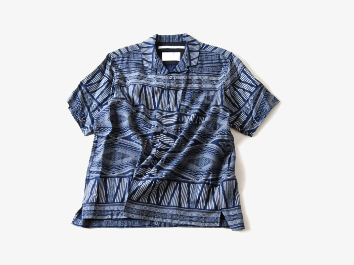 White Mountaineering/BANDANA PRINTED OPEN COLLAR SHIRT