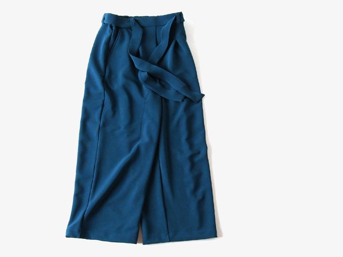 BLUE BLUE/リップルストレッチニット ワイドパンツ ウイメンズ