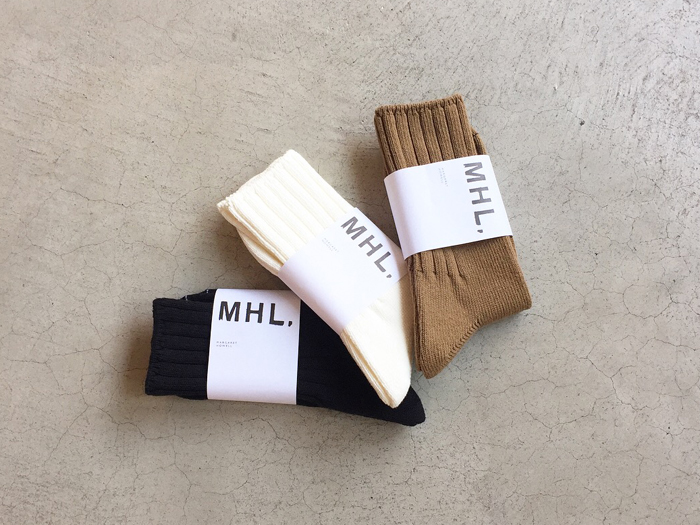 MHL./ROUGH COTTON RIB SOCK