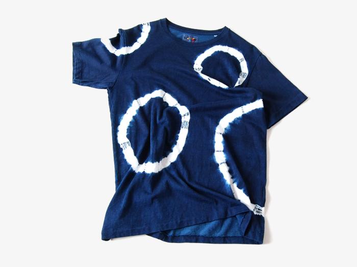 BLUE BLUE JAPAN/レーヨンプレーティング インディゴワッカシボリTシャツ