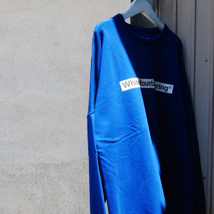 White Mountaineering/DROP SHOULDER LOGO SWEATSHIRT