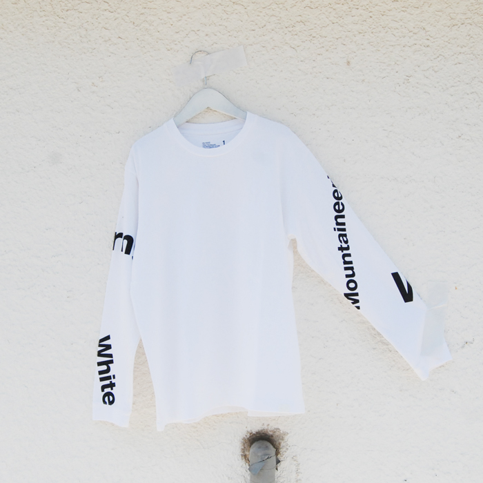 White Mountaineering/LOGO PRINTED LONG SLEEVE T-SHIRT