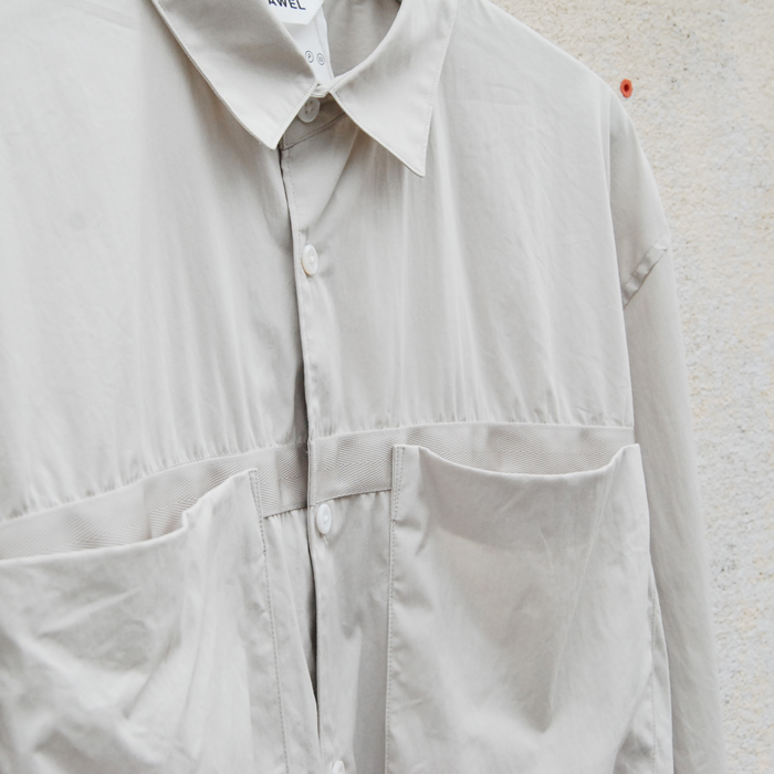 DIGAWEL(ディガウェル)/TAPE GATHER SHIRT(ICE GRAY)