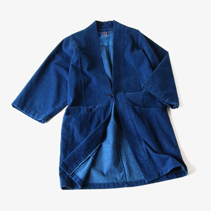 BLUE BLUE JAPAN/ウエアアウトデニム テゾメハンテンジャケット
