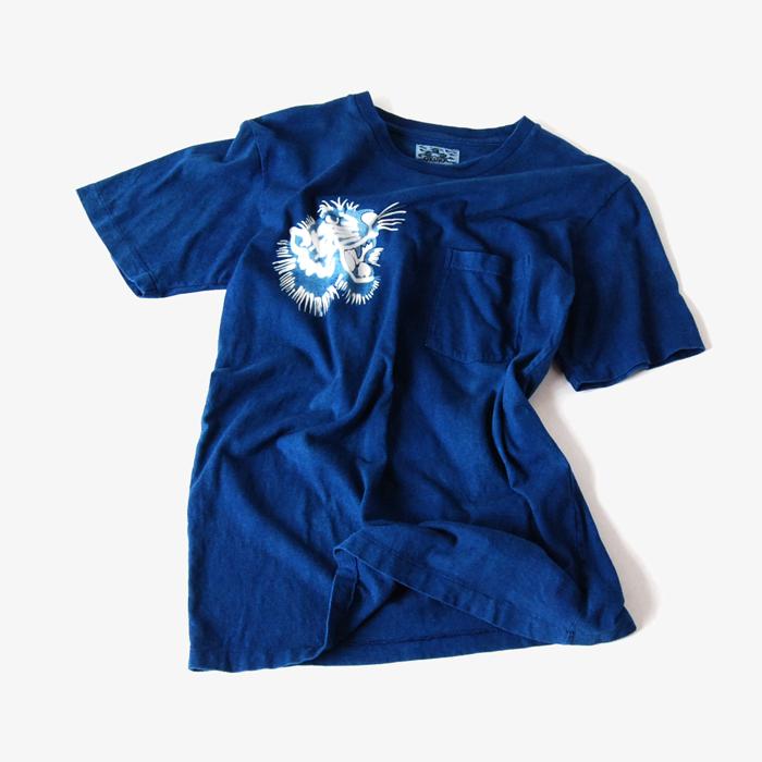 BLUE BLUE JAPAN/ガントラバッセン インディゴポケットTシャツ
