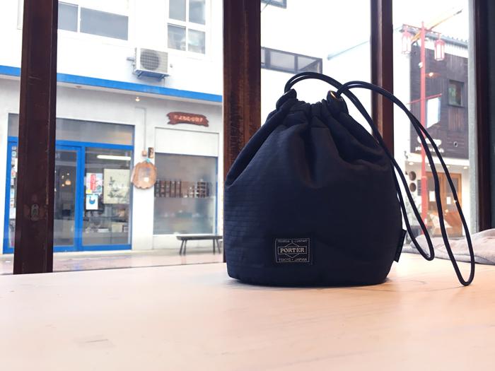 BLUE BLUE/PORTER x BLUE BLUE インディゴリップストップ パーソナルバッグ