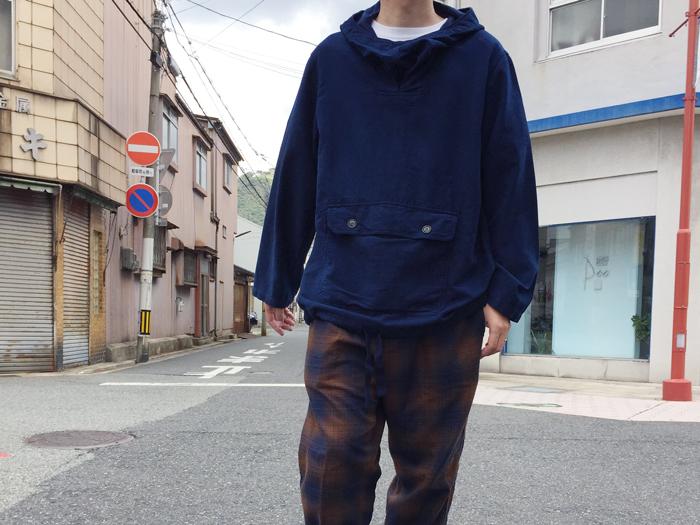 BLUE BLUE JAPAN/コットンスウェード テゾメアノラック