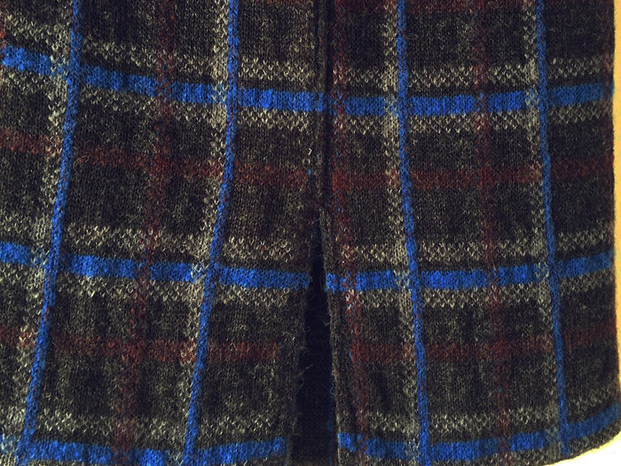 BLUE BLUE/ドラロンウール リバーシブルジャカードニットスカート