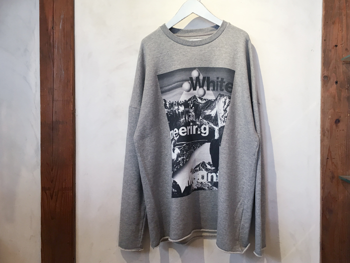 White Mountaineering/MOUNTAIN COLLAGE BIG SWEATSHIRT