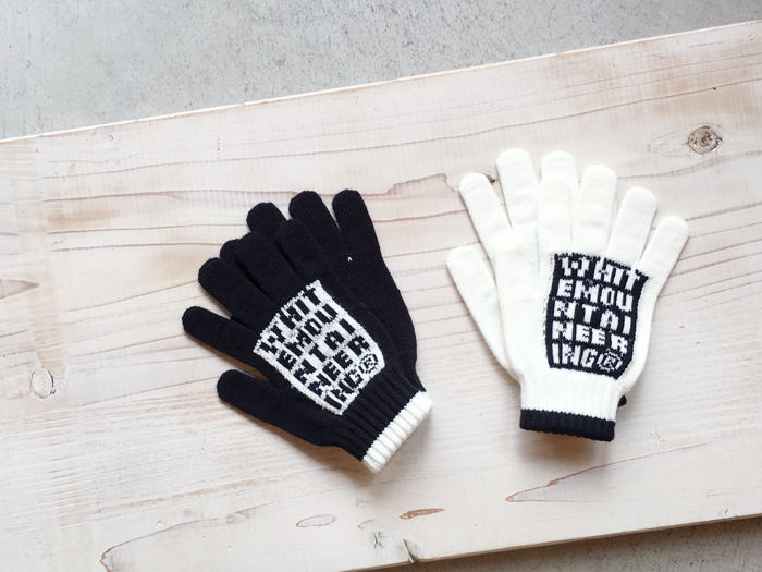 White Mountaineering/LOGO KNIT GLOVES