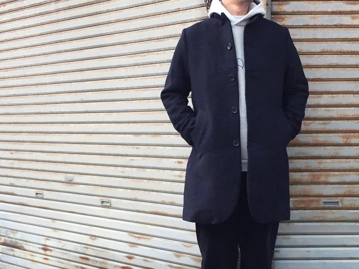 BLUE BLUE JAPAN/ループジャカードウール 4Bコート