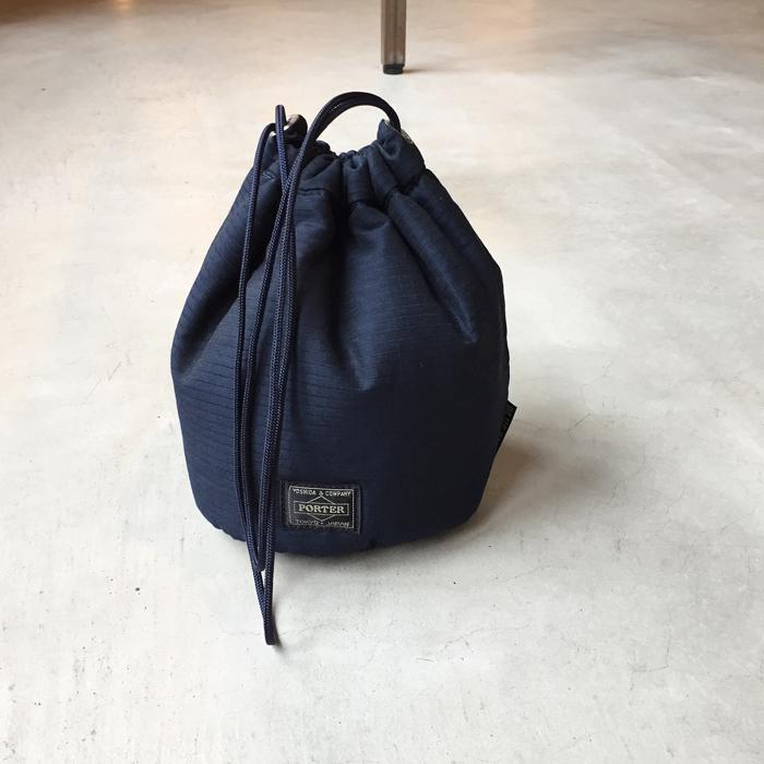 BLUE BLUE/x PORTER インディゴリップストップ パーソナルバッグ