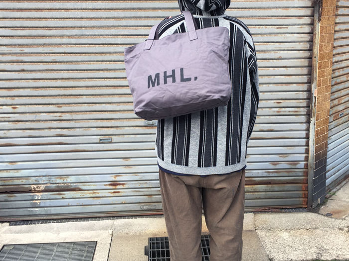 MHL./HEAVY COTTON CANVAS TOTE