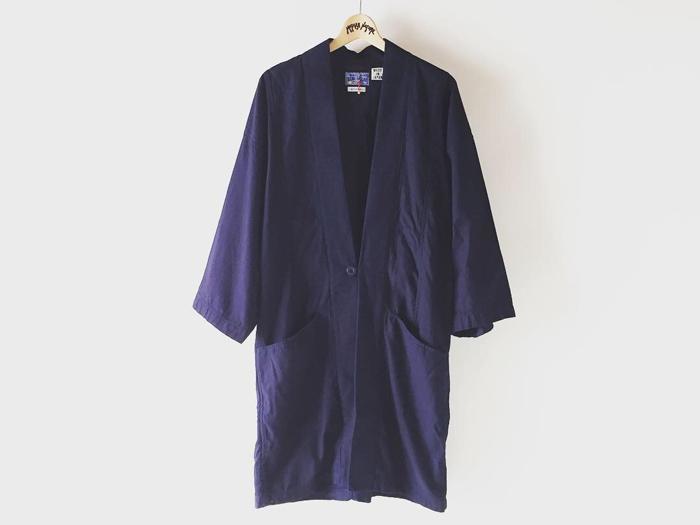 BLUE BLUE JAPAN/バックサテン ハンテンジャケット