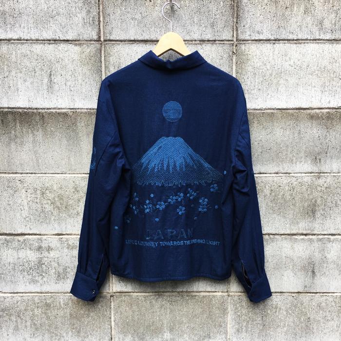 BLUE BLUE JAPAN/インディゴソフトツイル フジトサクラジャパジャン
