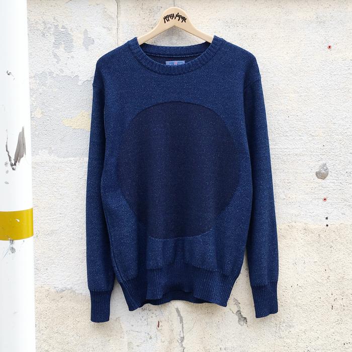 BLUE BLUE JAPAN/インディゴコットン タイヨウシャドウセーター
