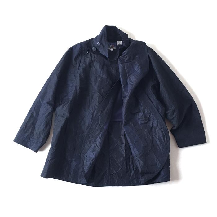BLUE BLUE JAPAN/カゴゾメナイロンオックス ラップマント