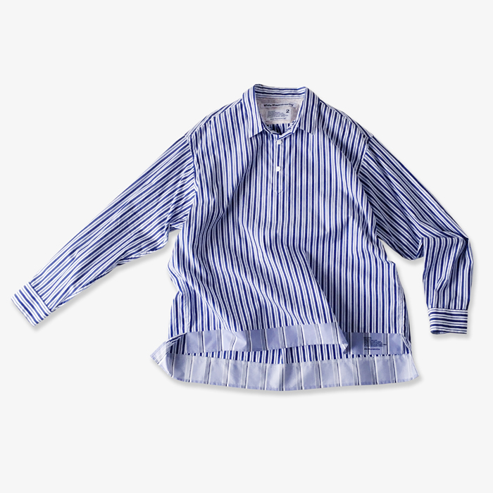 White Mountaineering/STRIPE PULLOVER SHIRT