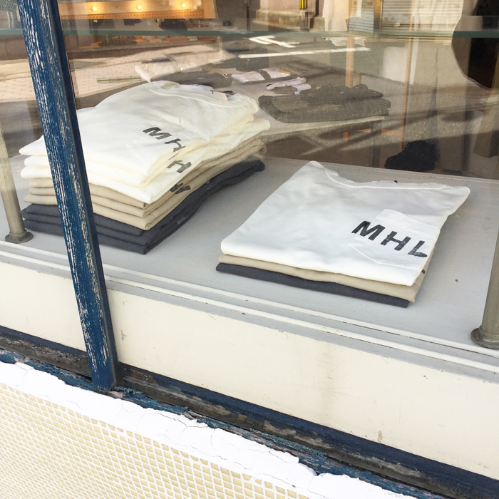 MHL./PRINTED COTTON JERSEY LOGO T-SHIRT