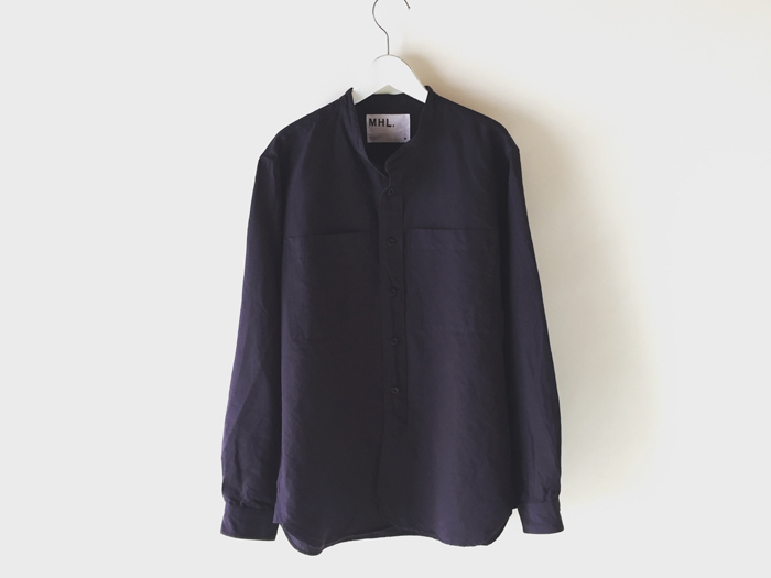 MHL./PLAIN COTTON LINEN SHIRT