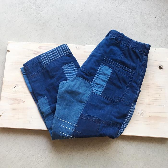 BLUE BLUE JAPAN/インディゴライトネル ネンリン8レングスリラックスパンツ