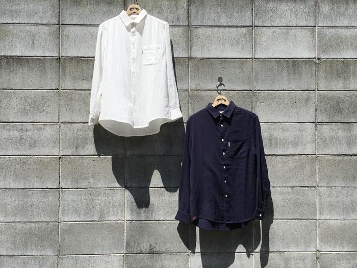 HOLLYWOOD RANCH MARKET/カラーダブルガーゼ ショートカラーシャツ