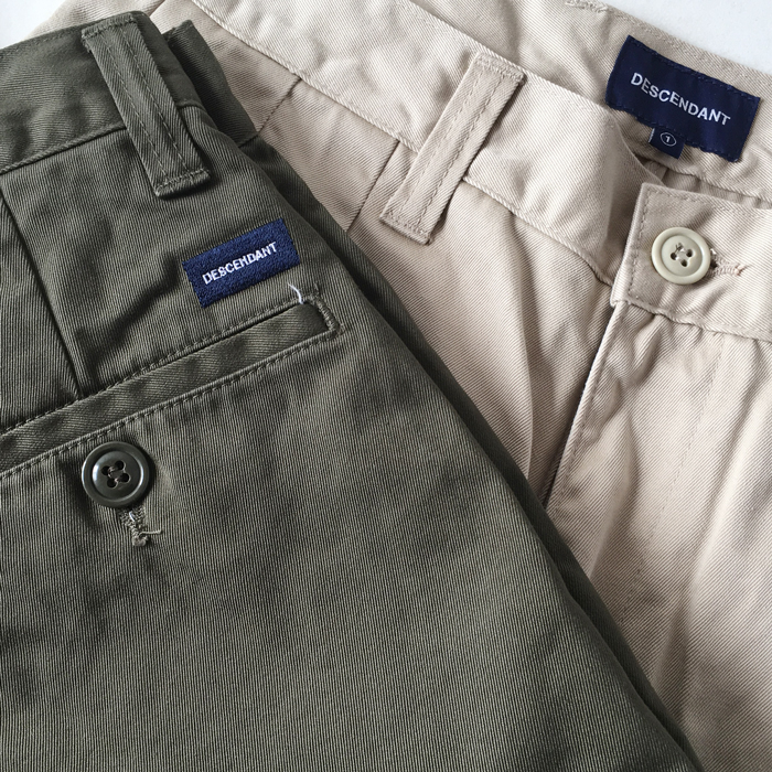 DESCENDANT/DC-3 TWILL TROUSERS