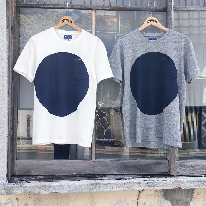 BLUE BLUE JAPAN/ムライトテンジクオオマルクルーネックポケットTシャツ