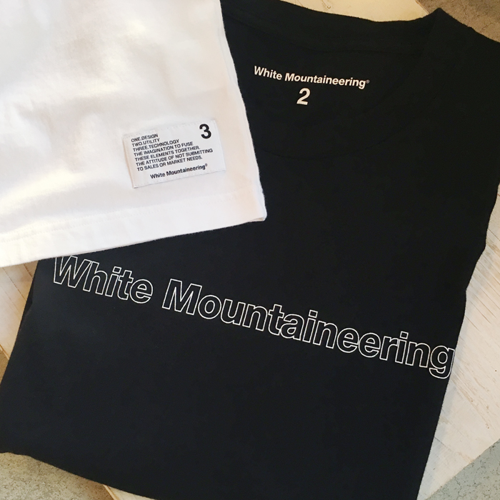 White Mountaineering/PRINTED T-SHIRT WHITE MOUNTAINEERING