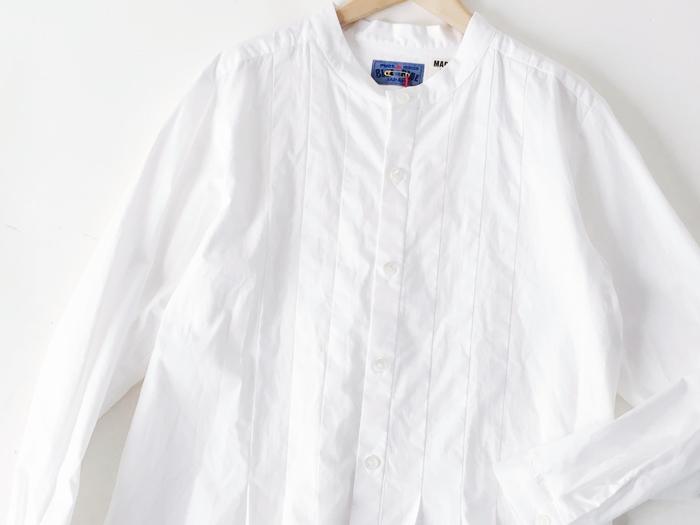 BLUE BLUE JAPAN/ブロード タックシャツ ウイメンズ