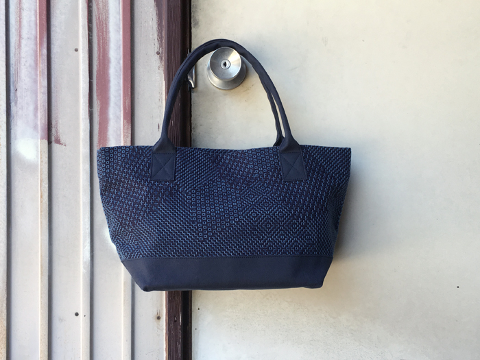 BLUE BLUE JAPAN/サシコ パッチワークパターン トートバッグ S