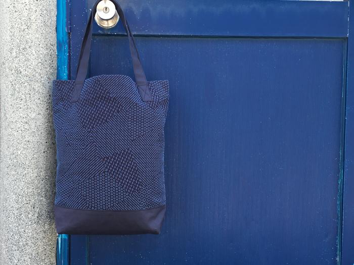 BLUE BLUE JAPAN/サシコ パッチワークパターン タテナガ トートバッグ