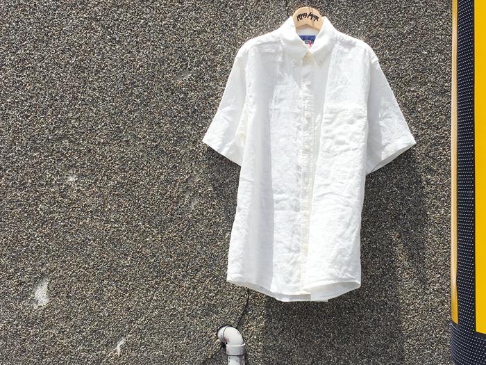 BLUE BLUE JAPAN/リネンボタンダウン SSシャツ