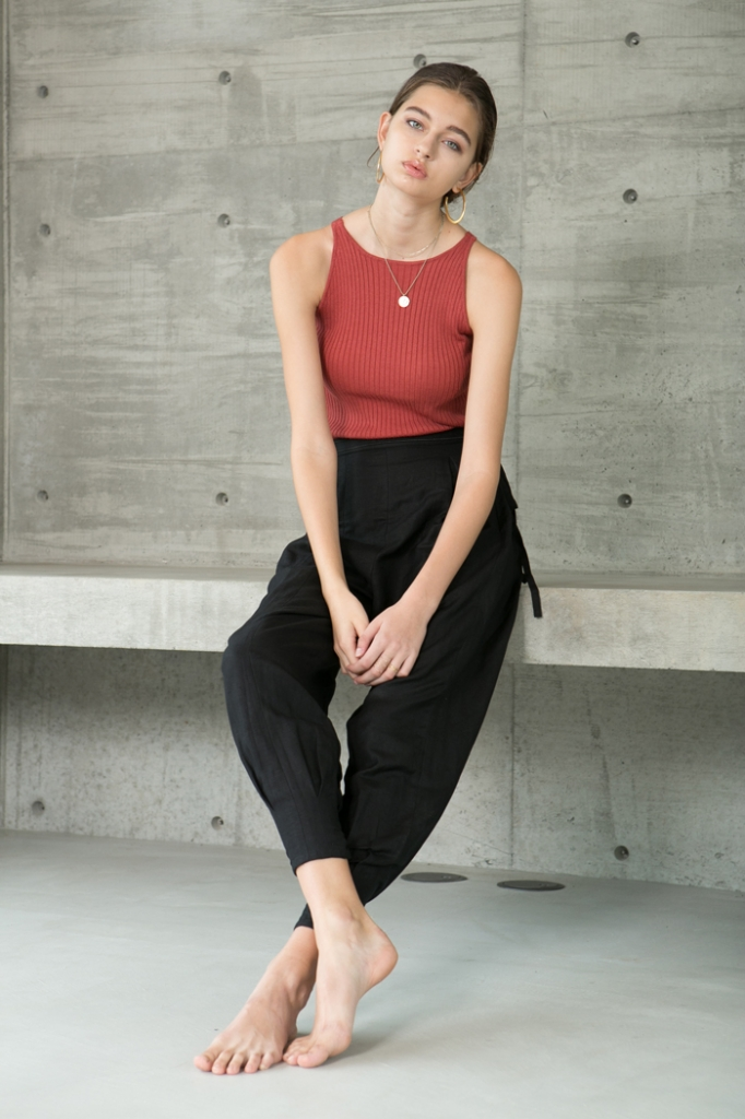 KiiRA/RIB KNIT TANK-TOP