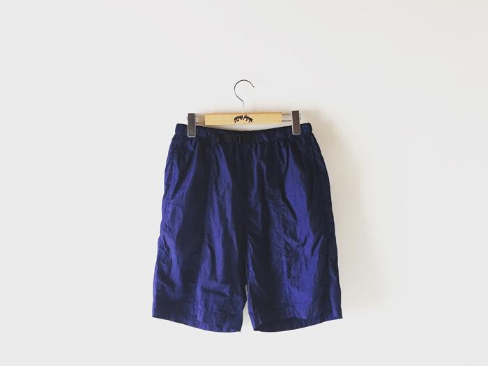 BLUE BLUE JAPAN/ライトウエイトナイロン クサキフルスプリットショーツ