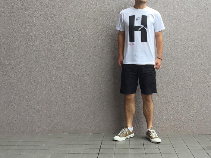 HOLLYWOOD RANCH MARKET/MARILYN MONROE・HRM ビッグH Tシャツ