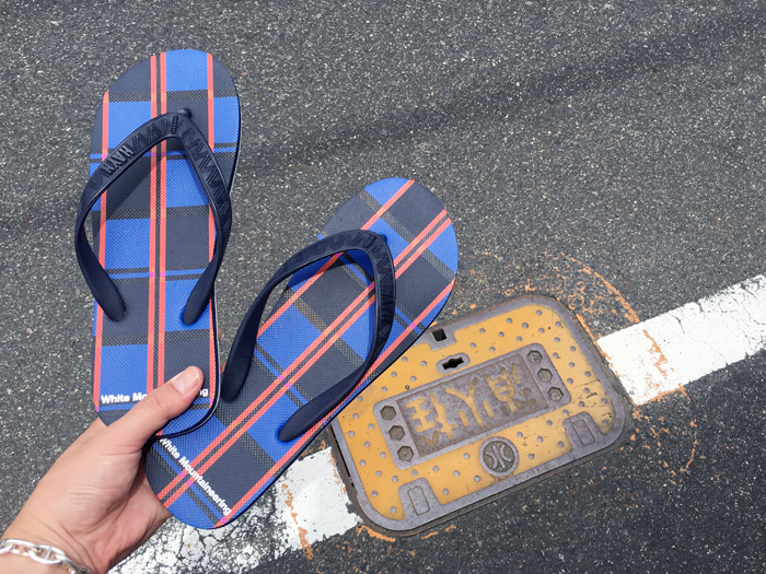 White Mountaineering/WM × HAYN LARGE CHECK  Beach Sandal