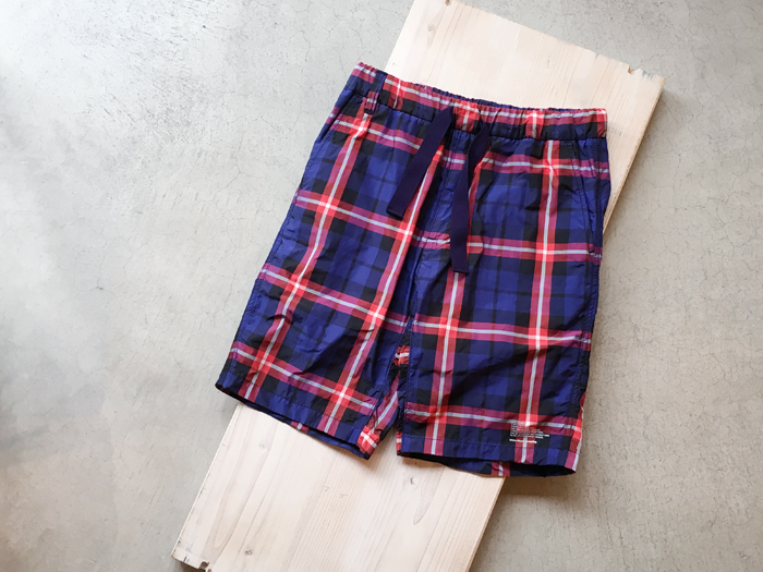 White Mountaineering/ORIGINAL CHECK EASY SHORT PANTS