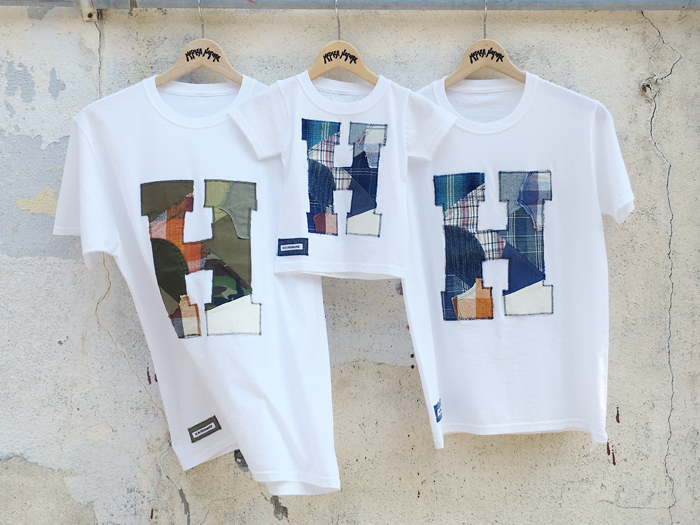 HOLLYWOOD RANCH MARKET/H.R.REMAKE MIX PATCHWORK T-SHIRT