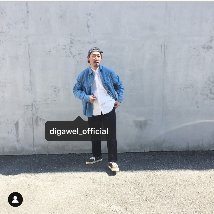 DIGAWEL/WESTERN SHIRT DIGAWEL×Lee